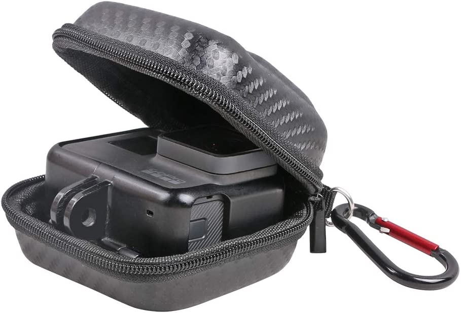Mini Hard Carrying Case for GoPro Hero 8/7/(2018)/6/5 Black,Hard Shell Protective Storage Bag with Surface-Waterproof Compatible with DJI Osmo Action and More - Perfect for Travel and Storage