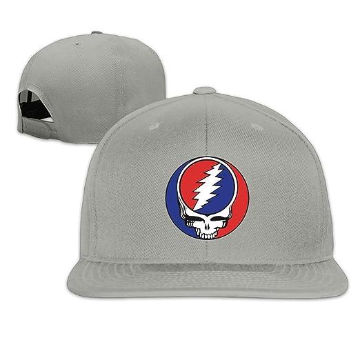 Unisex Woman Man r n Cool Grateful Dead Flat Brim Snapback Baseball Caps  Cotton b36fe722a56b
