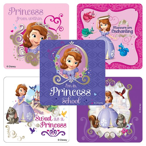 Disney Sofia The First Stickers - Party Favors - 100 Per Pack ()