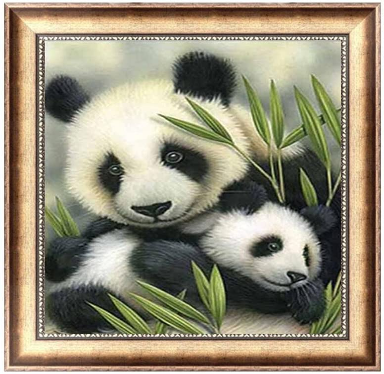 Bedroom Decor Panda DIY Diamond Painting Wall Art Cross Stitch Painting ONE