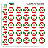 """Burundi National Country Flag 1"""" Planner Calendar Scrapbooking Crafting Stickers - Clear"""