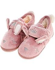 festooning Toddler Girls' Long Ears Bunny Slipper Cozy Soft Warm Plush Home Non-Slip Shoes