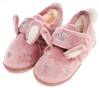 b679ee78be6 Festooning Toddler Girls  Long Ears Bunny Slipper Cozy Soft Warm Plush Home  Non-Slip