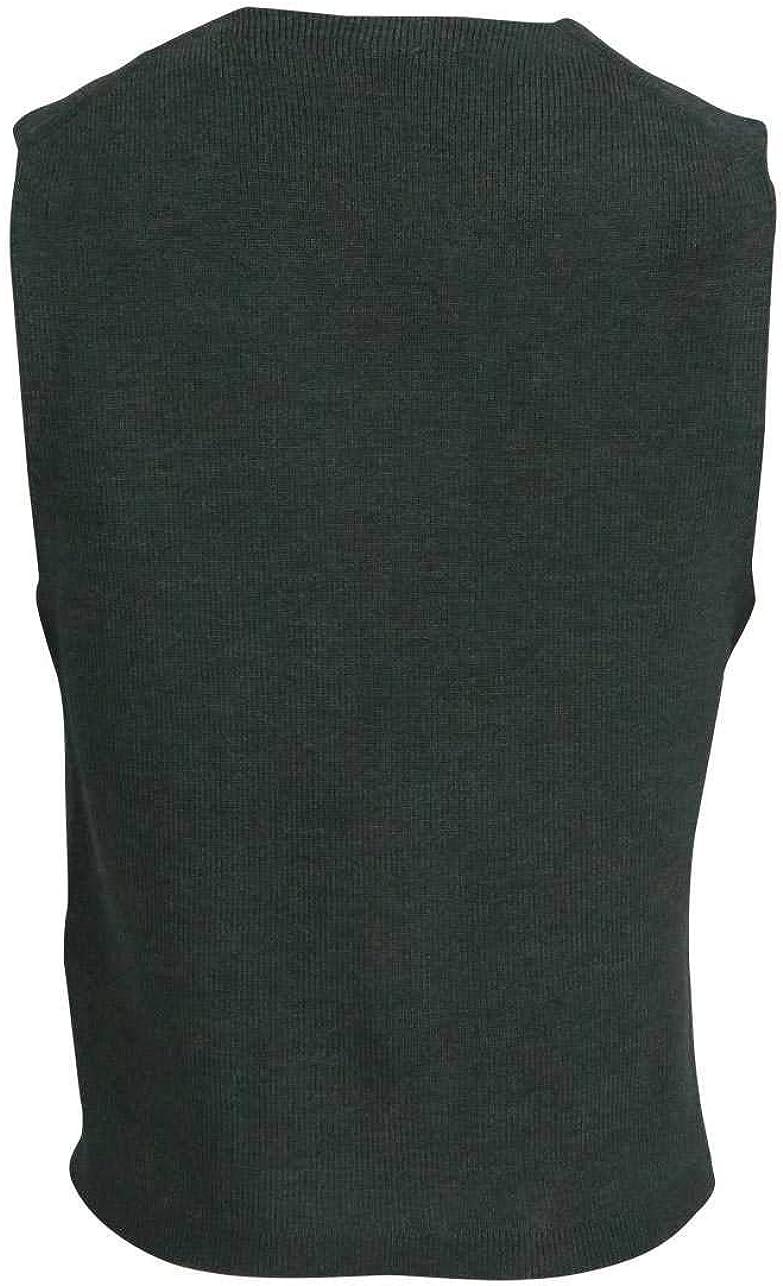 Olymp Strick modern fit Weste ohne Arm Struktur dunkelgr/ün