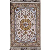 YILONG CARPET 2'x3′ Hand Knotted Nain Persian Silk Rug Oriental Classic Medallion Hand Woven Living Room Carpet Y110C2x3 For Sale