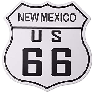 hantajanss Route 66 Signs Metal Vintage Highway New Mexico US 66 Tin Sign for Road, Street, Home Decoration 12 Inches