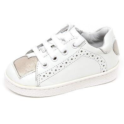 l'ultimo 47978 fef18 E8886 Sneaker Bimba Girl Twin-Set White/Silver Scarpe Shoe ...