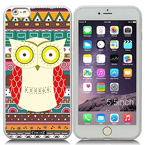 New Apple iPhone 6 s Plus 5.5-inch CocoZ® Case Cute funny owl TUP Material Case (Transparent&Transparent TPU owl - Regal Bite Plus