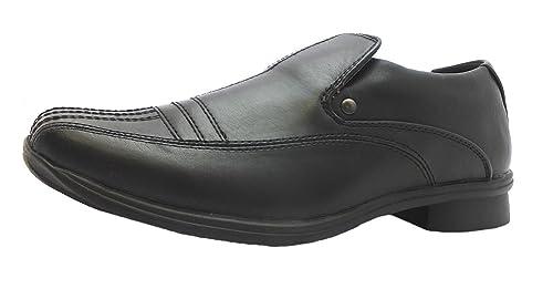 Ubershoes - Mocasines para niño, color negro, talla 4 UK: Amazon.es: Zapatos y complementos