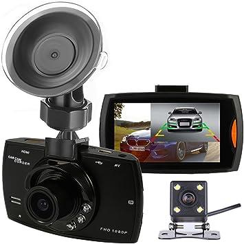Podofo Dashcam 1080p Full Hd Dual Kamera Für Autos Fahr Rekorder Dvr Mit Rückfahrkamera Loopfunktion Schwerkraftsensor Nachtsicht Schwarz Auto