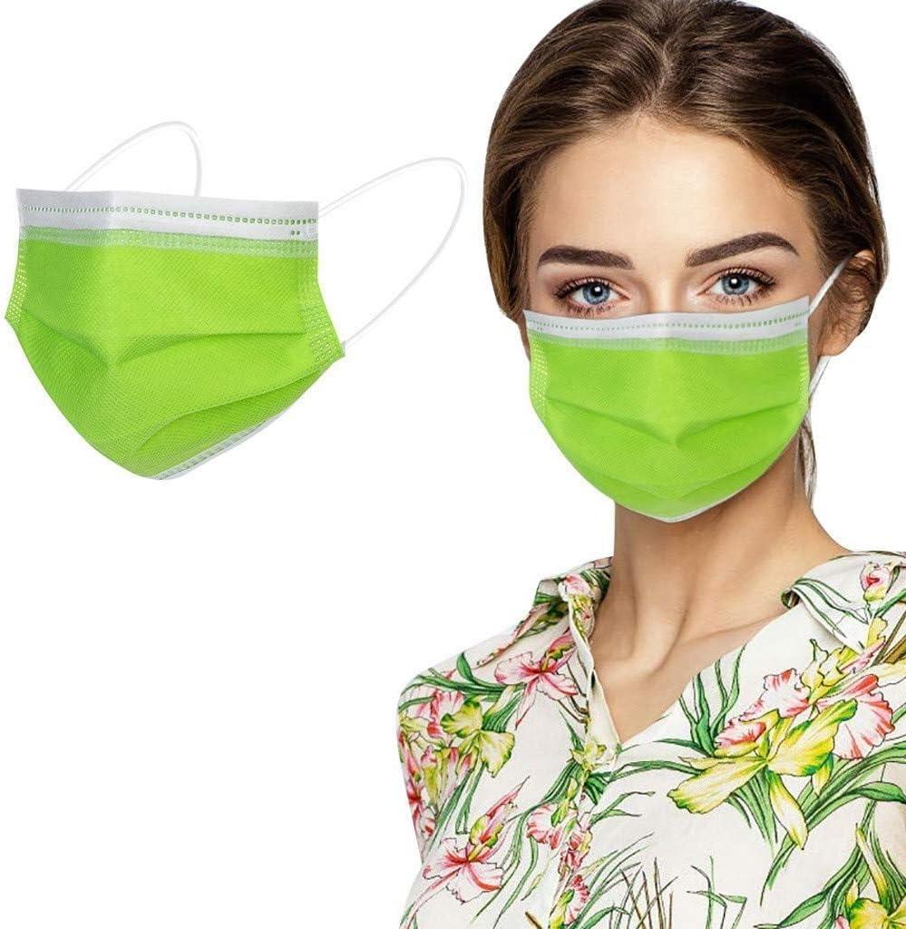 VESNAHOME 50 protectores faciales desechables, de color raro, apto para la piel, recomendado tanto para hombres como para mujeres (verde)