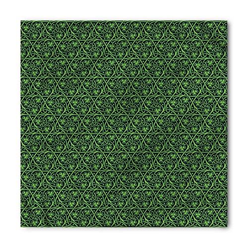 Ambesonne Unisex Bandana, Irish Intricate Clover Twigs, Lime Green ()