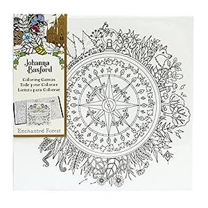 Amazon.com: Johanna Basford Enchanted Forest Coloring Canvas ...