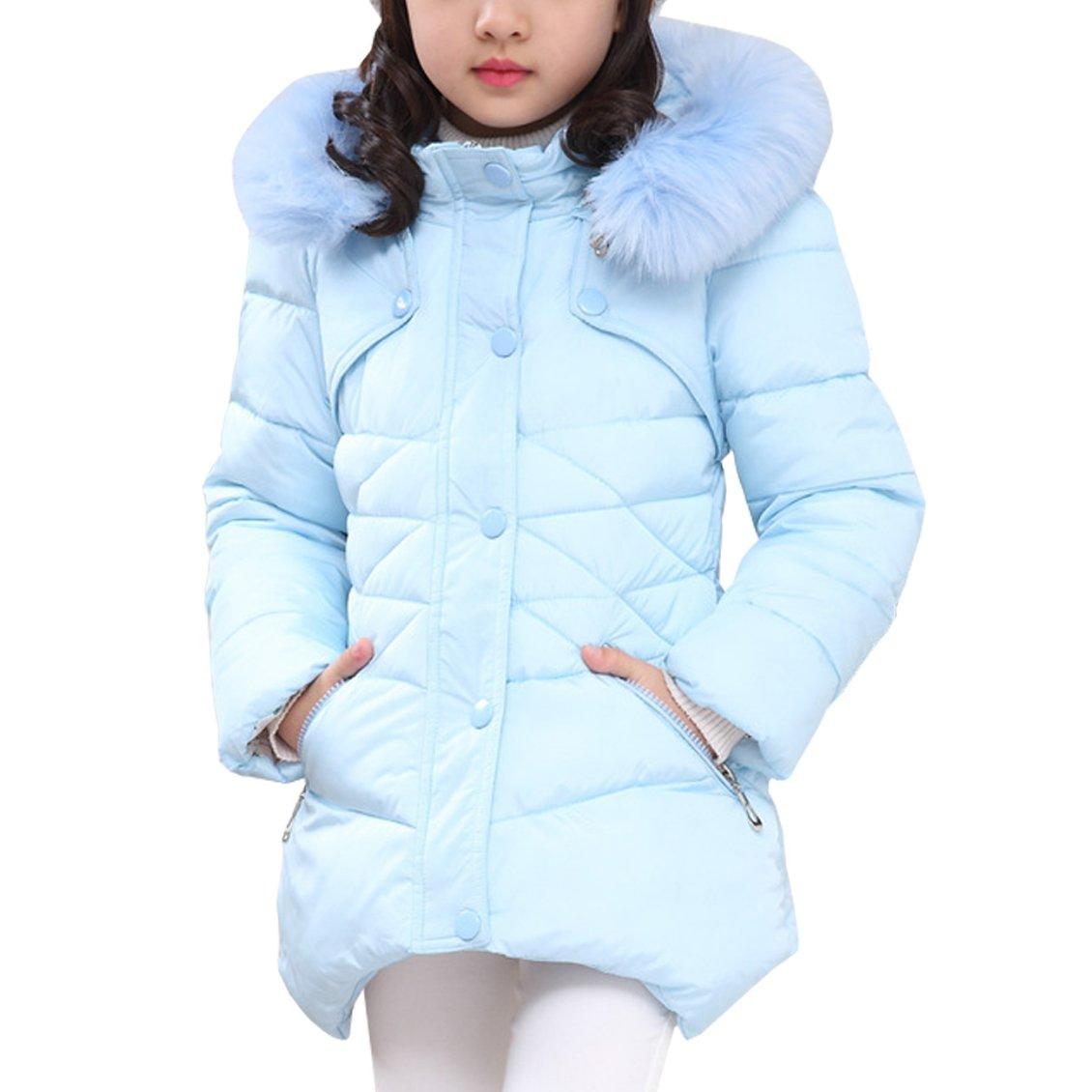 ff44ba7da118 AnKoee Little Girls Jacket Girls Kids Coat Windbreaker Outwear Warm ...