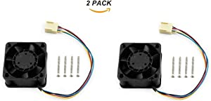 2 Pack Dedicated DC 5V Cooling Fan for NVIDIA Jetson Nano Developer Kit PWM Speed Adjustment Strong Cooling Air Fan 40mm×40mm×20mm with 4PIN Reverse-Proof Connector