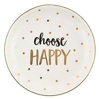 'Choose Happy' Metallic Trinket Dish