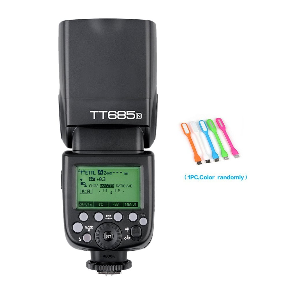 Godox TT685N TTL 2.4GHz GN60 High-Speed Sync 1/8000s Wireless Master Slave Flash Speedlite light For Nikon Cameras I-TTL II auotflash
