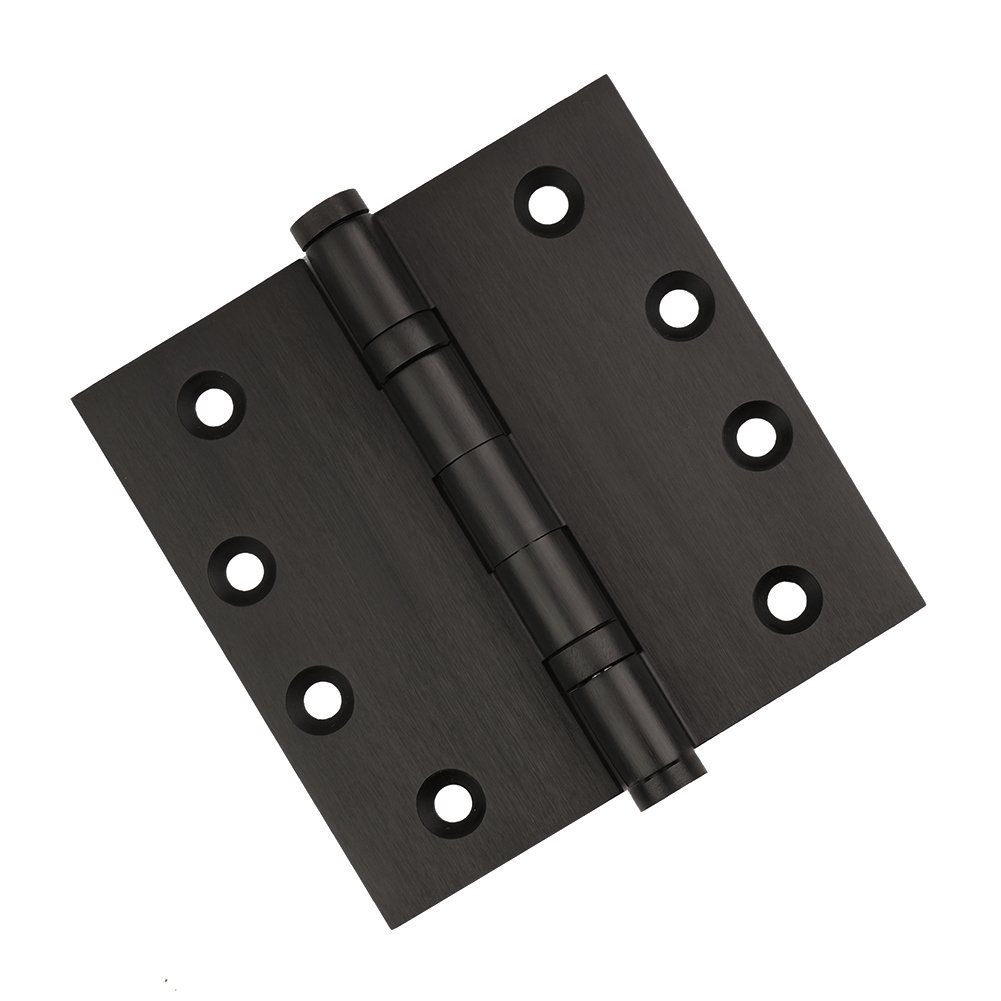 6 Oil Rubbed Bronze Door Hinges - 4'' x 4'' - Ball Bearing Extruded Solid Brass - Heavy Duty US10B Stainless Steel Removable Pin, Architectural Grade, Ball & Urn Tips Included (6 pk) by Homebuilders Hardware