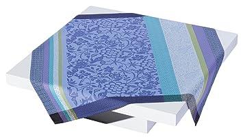 Le Jacquard Francais 20735 pequeña toalla de mesa cuadrado Provence algodón azul lavanda 120 x 120