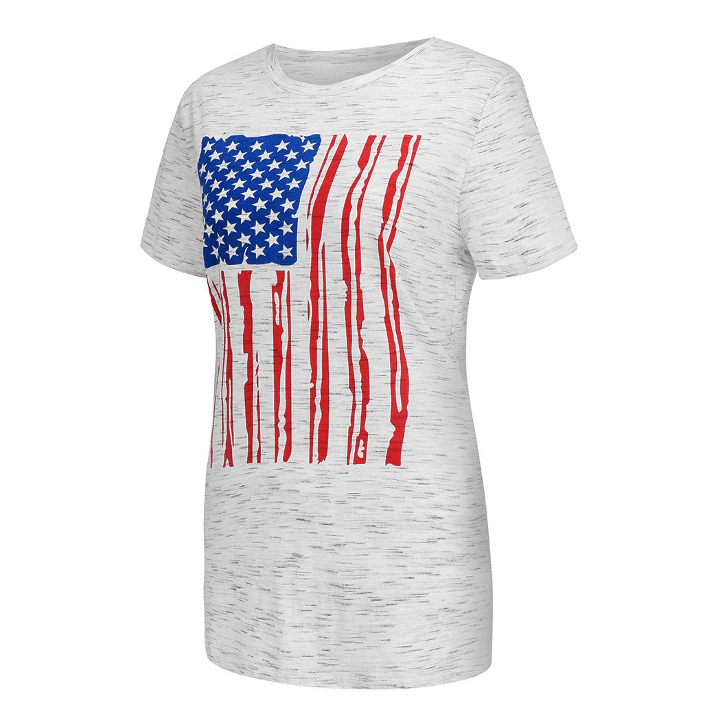 Amazon.com: refulgence Womens American Flag Shirt 4th of July Patriotic Tank Top T Shirt V-Neck Shirt: Clothing