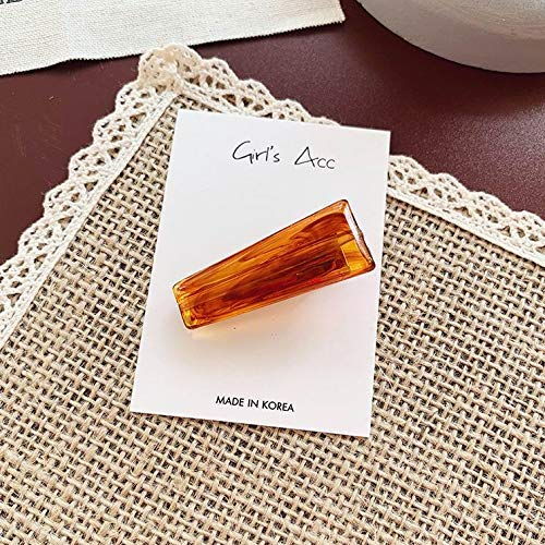 Vintage Resin Marble Hairclips Hairpins for Women Girls Geometric Oval Transparent Hair Clips Hair -