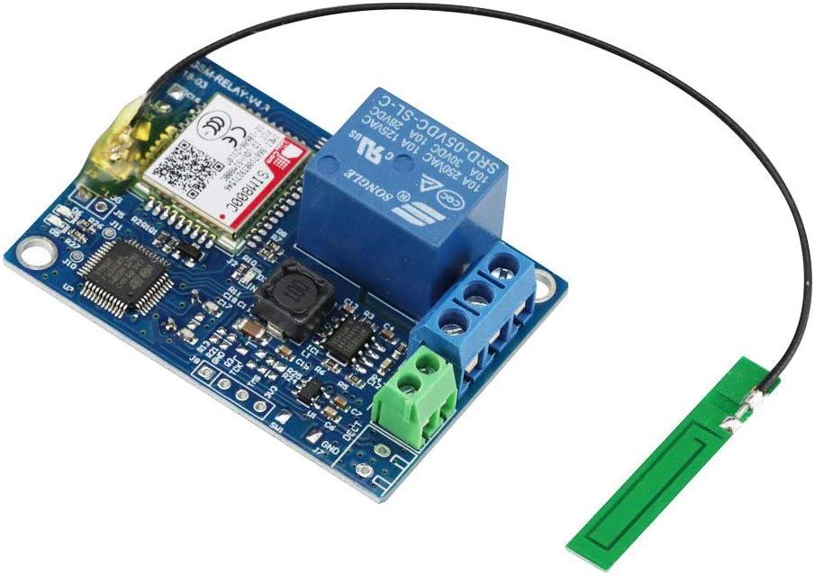 GSM 2 Kanal Relais Modul SMS Fernbedienung Schalter f/ür Gew/ächshaus Sauerstoffpumpe