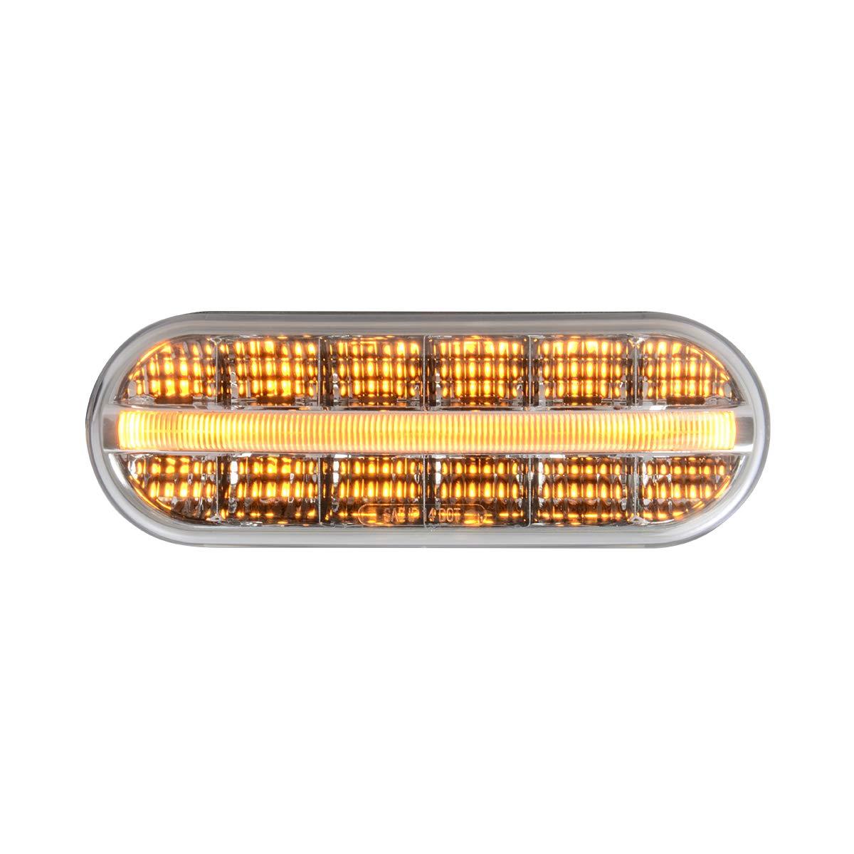 GG Grand General 74851 Sealed Light Oval Prime Spyder Amber//Clear 14 LED