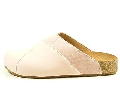 19e05d8812 Haflinger 819037 Bio Clog Geraldine Schuhe Damen Pantoletten Clogs Leder,  Schuhgröße:42, Farbe