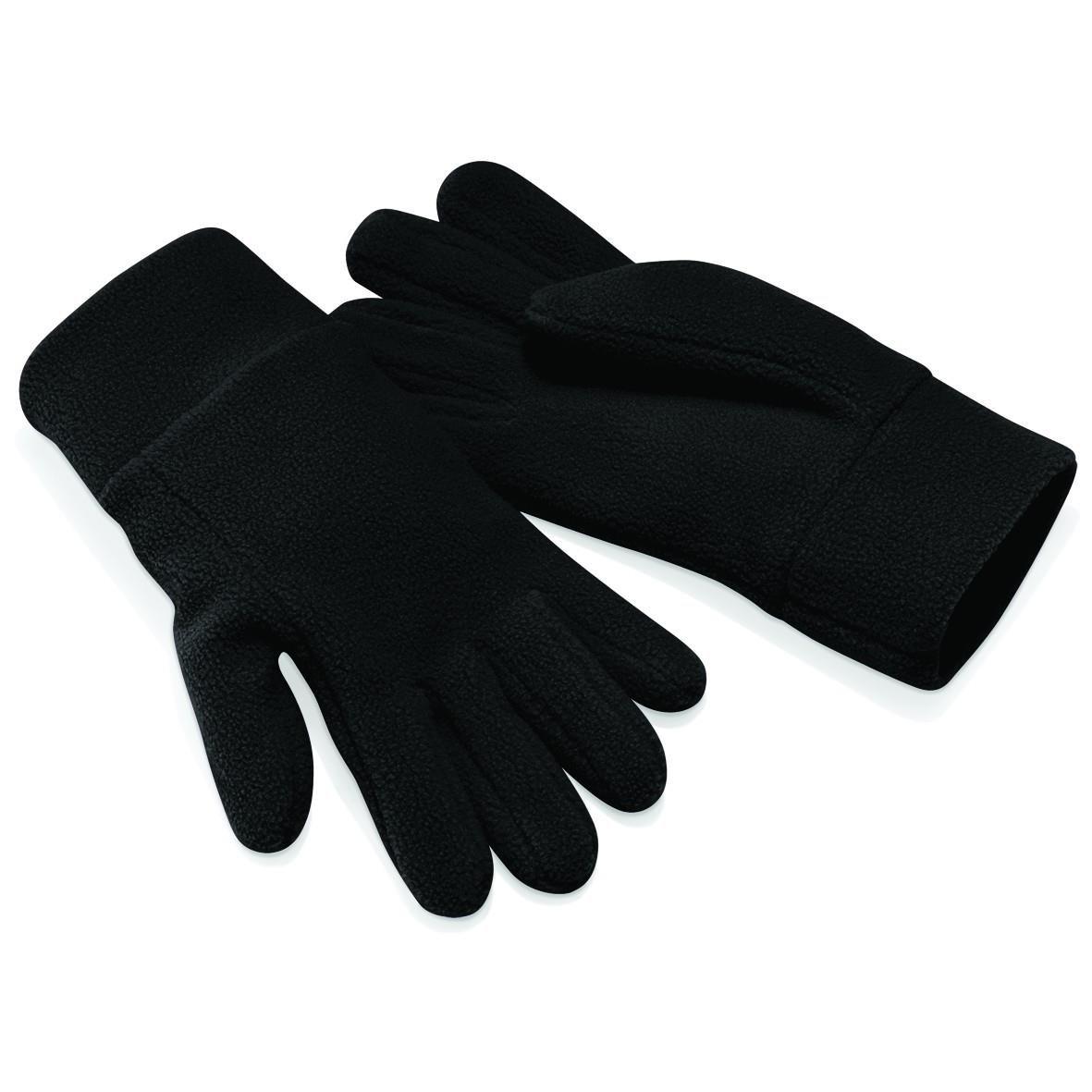 Black S Beechfield Suprafleece Alpine Gloves