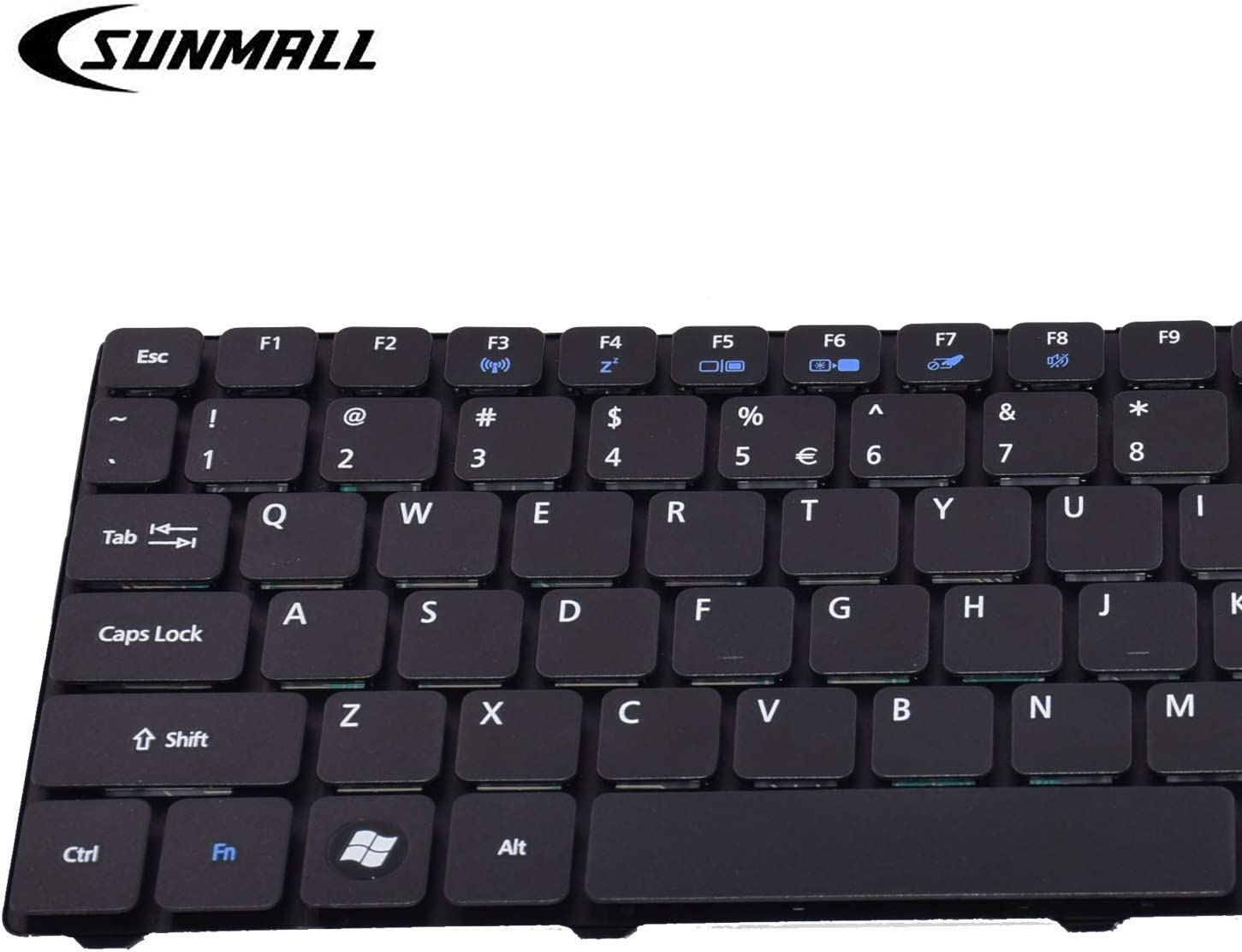New For Acer PK130C91100 KB.I170A.172 US Black Keyboard F3 Wireless