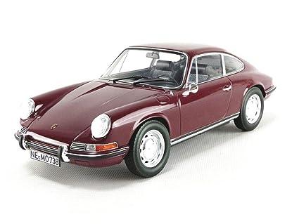 1969 Porsche 911 T Dark Red 1/18 Diecast Model Car Norev 187630