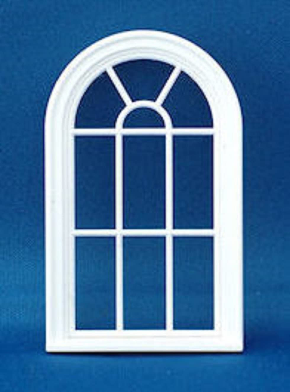 Melody Jane Dollhouse Miniature White Plastic Victorian Arched Window Frame 1:24 Scale