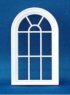 Dollhouse Miniature 1//2 Scale 8-Light Window with Shutters