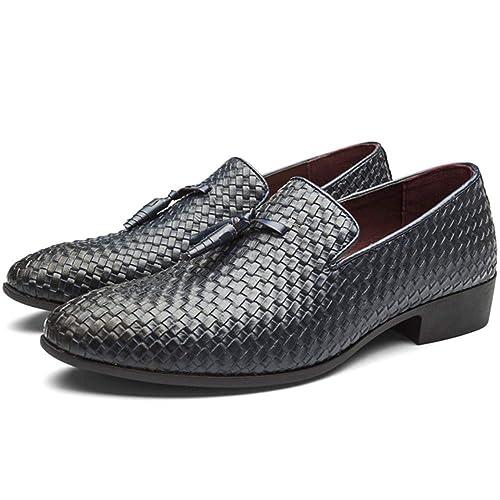 Zapatos Oxford Hombre, Zapatos Mocasines Hombre, Zapatos de Hombre de Cuero PU, Zapatos de Vestir Hombre, Brogue Bajos de Bandas Derby Zapatos: Amazon.es: ...