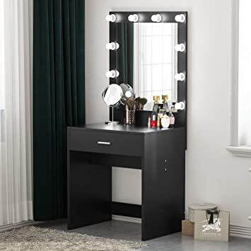 Amazoncom Tribesigns Vanity Set With Lighted Mirror Makeup Desk