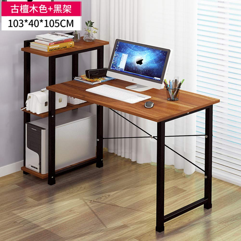 B 103x40x105cm(41x16x41inch) Tower Computer Desk,Computer Table with Storage,Compact Home Office Studying Writing Table Multipurpose Workstation-b 103x40x105cm(41x16x41inch)