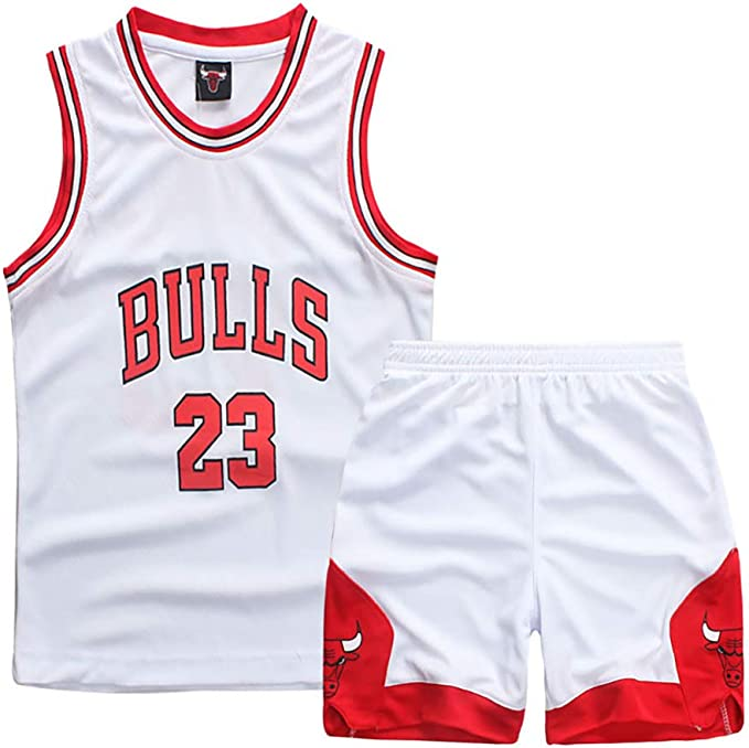 Traje de Baloncesto para niños, Durant Curry Jordan Irving James Harden Thompson Maillot de Baloncesto Estadounidense Miami New York Chicago, Traje Deportivo: Amazon.es: Ropa y accesorios