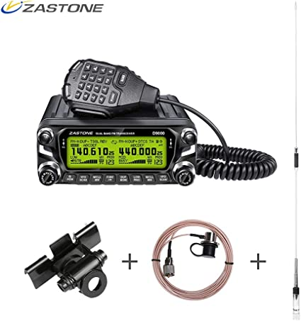 Mini Auto Car Mobile Radio FM VHF//UHF Dual-Band Transceptor veh/ículo walkie-Talkie 128/Canales de Memoria
