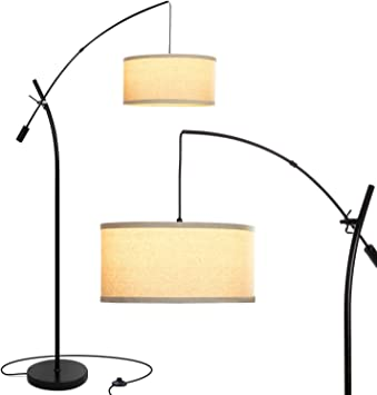 ORE International 5 Lights Arms Arch Black Floor Lamp Cylindrical Plug-in 84 in.