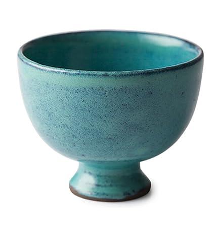 Bowl Tazón de Fuente de Helado de cerámica Verde Vintage tazón Ensalada de Yogur Postre Desayuno cubertería Engrosada: Amazon.es: Hogar