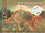 TY Beanie Babies BBOC Card - Series 1 Retired (SILVER) - STEG the Stegosaurus