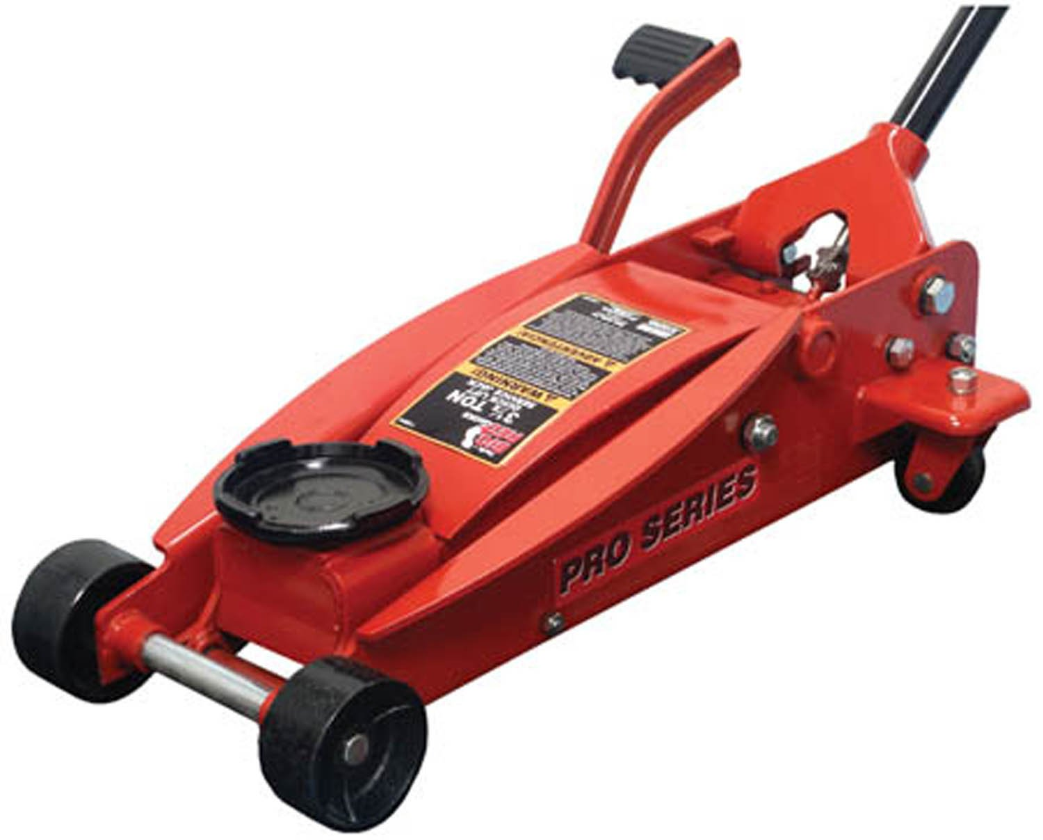 Torin Big Red Quick Lift Floor Jack with Foot Pedal: Single Piston Pump, 3.5 Ton Capacity T83014
