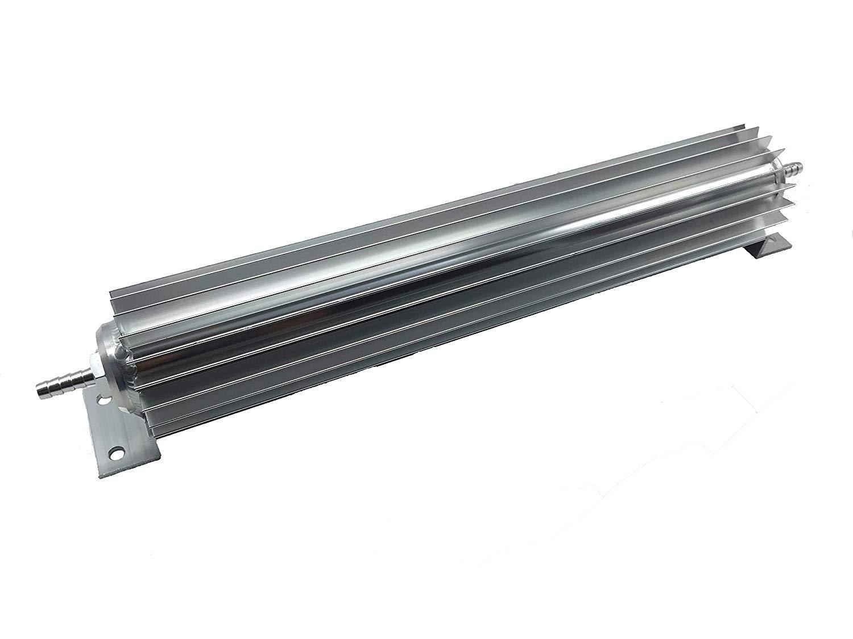 HotRod99 12 Satin Aluminum Finned Single Pass Transmission Cooler