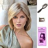 Berlin by Noriko, Wig Galaxy Hair Loss Booklet, Wig Cap, & Loop Brush (Bundle - 4 Items), Color Chosen: Marble Brown