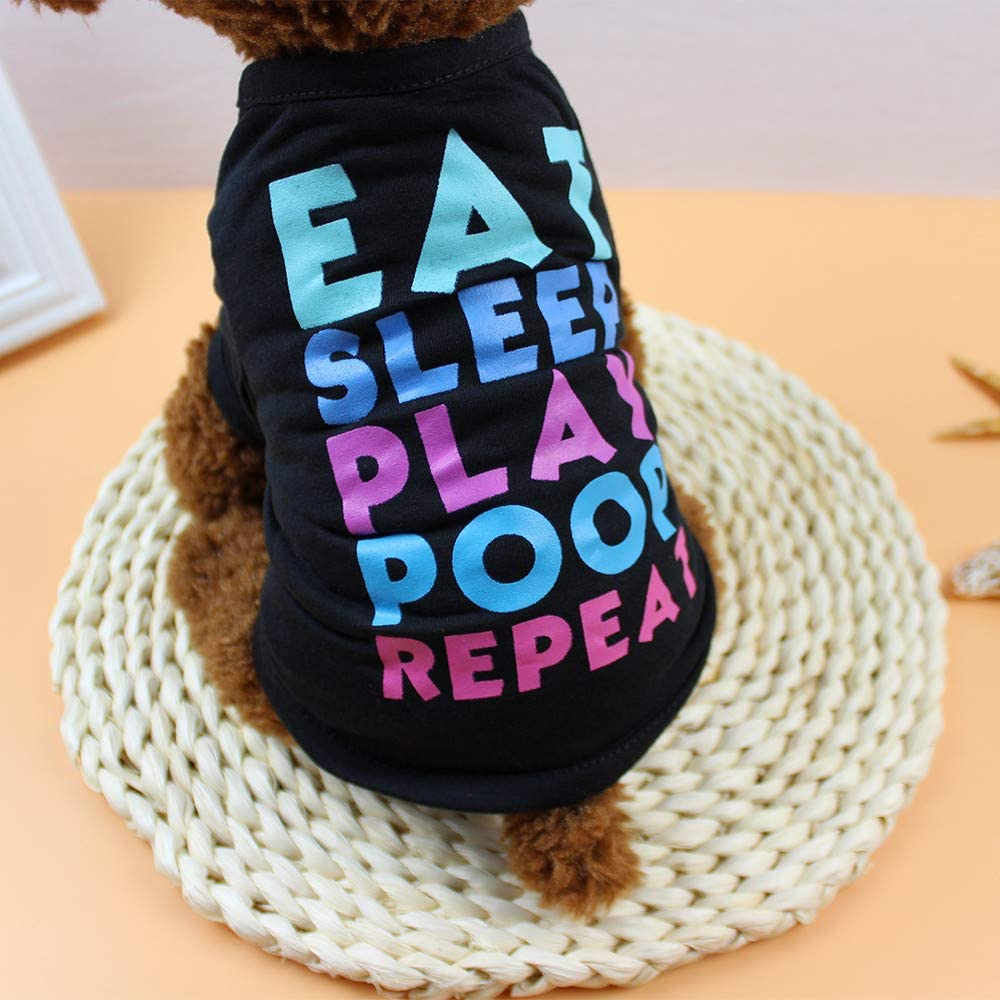 Puppy T-Shirt Puppy Pet Fashion Costume for Small Dog Banstore Dog Clothing