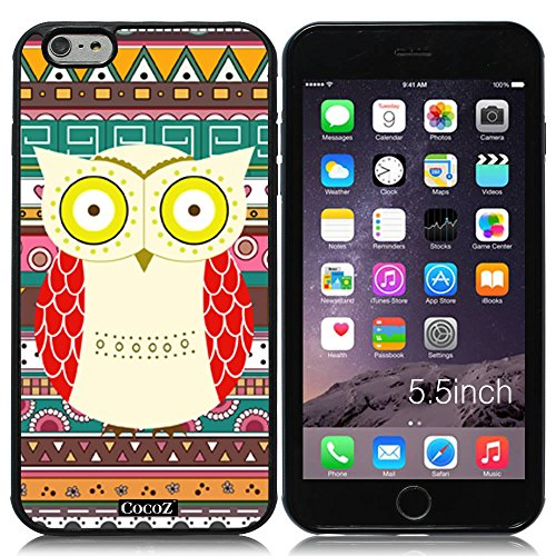 Price comparison product image New Apple iPhone 6 s Plus 5.5-inch CocoZ® Case Cute funny owl TUP Material Case (Black&Black TPU OWL 23)