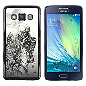 Paccase / SLIM PC / Aliminium Casa Carcasa Funda Case Cover - Love Couple Heart Funny Skeleton - Samsung Galaxy A3 SM-A300