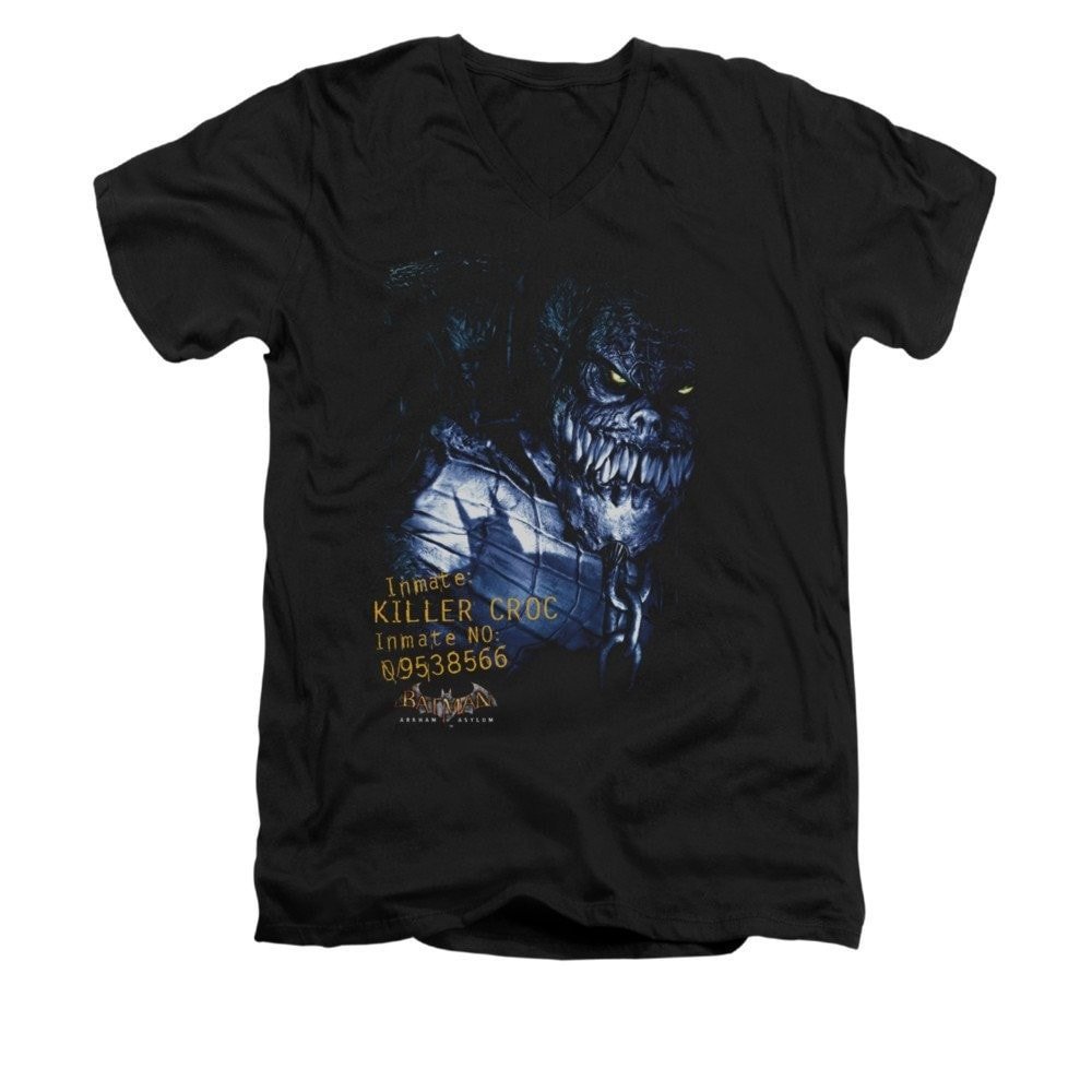 Batman Arkham Asylum Arkham Killer Croc Adult V-neck T-shirt