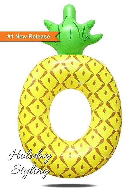 Flotador inflable de la piscina de la piña, juguetes inflables divertidos de la fiesta de