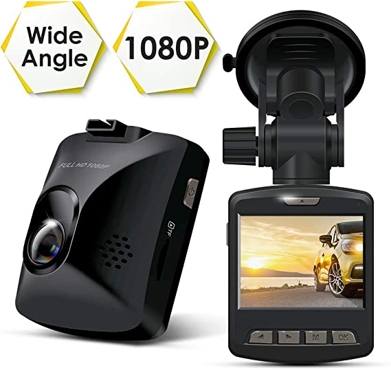 Veoker Full HD 1080P Car Dash Cam 170/° Wide-Angle 4 LCD Dashboard Camera DVR Video Recorder Dual Lens Front+Rear with Parking Mode,Night Mode,Loop Recording,G-Sensor